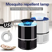 USB Mosquito Fly Insect Bug Killer Electric Lamp Zapper Trap Killer LED Mute