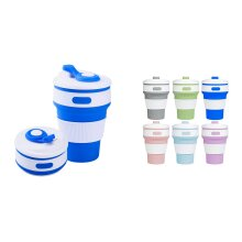 Collapsible Silicone Mug Folding Leakproof Travel Cup 350ml