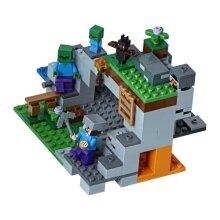 Minecraft The Zombie Cave Adventures Building Set with Steve, Zombie and Baby Zombie Mini Figures, Build and Play Toy for Kids