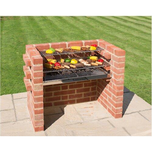Brick BBQ Kit 100% Stainless Steel 90 x 39cm Black Knight Brand