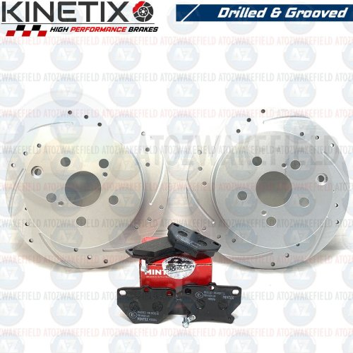 FOR TOYOTA CELICA VVTI 140 190 T SPORT REAR DRILLED GROOVED BRAKE DISCS PADS