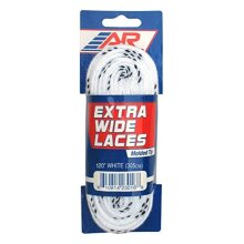 A&R Sports Extra Wide Skate Lace, White, 108-Inch