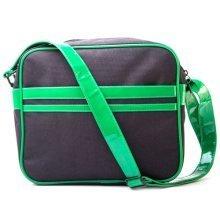 TEENAGE MUTANT NINJA TURTLES (TMNT) Messenger Bag with Faces Design, Black/Green (MB301000TNT)