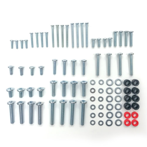 King Universal TV Screws Bolts Nuts Washer Spacer Fixing Kit Samsung Sony LG M4 M5 M6 M8 88 pcs for HD LCD LED 4K Curved 3D TVs by TV Furniture Direct