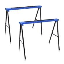 2x 780mm 125KG Trestle Saw Horse Stands Foldable Carpenter Builder Top