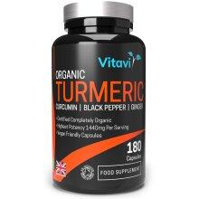 Vitavi Organic Turmeric Capsules with Black Pepper Curcumin and Ginger 1440mg