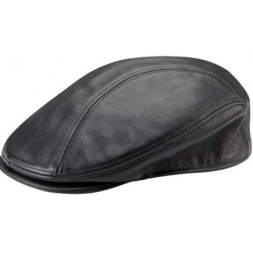 (L) New Real Cow Leather Ivy Flat Newsboy Cap Gatsby Golf Hat Driver Cabbie