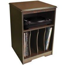 AUDIO - Turntable / LP Record / Vinyl Storage Side End / Bedside Table - Walnut