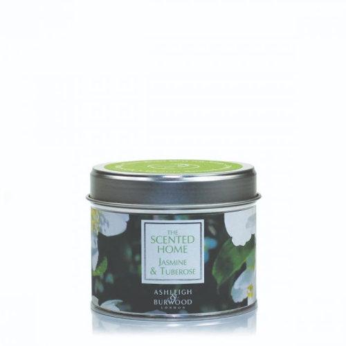 Ashleigh & Burwood Scented Home Tin Candle 165g Jasmine & Tuberose
