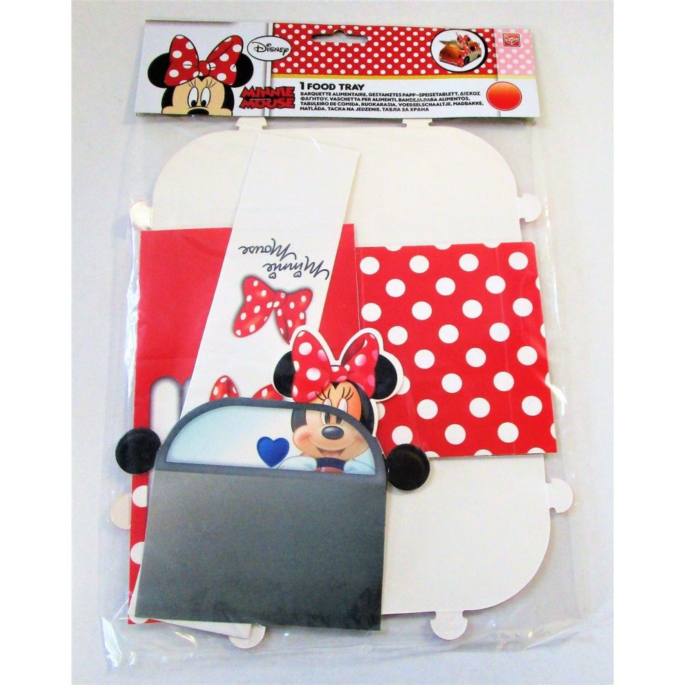 Disney Minnie Mouse Food Tray Party Tableware Decorations