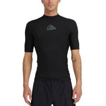 Quiksilver Mens Heater Short Sleeve UPF 50 Rash Guard Vest T-Shirt Top - Black