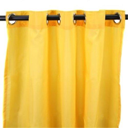 Jordan Manufacturing 3VOC5484-1630Q 544 in. x 84 in. Outdoor Curtain - Solid Dandelion