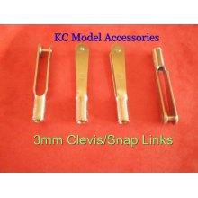 3mm Clevis/ Snap Links Metal x 4 pieces