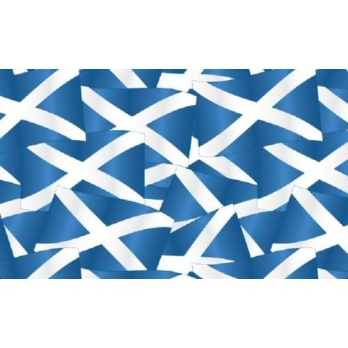 Fat Quarter Saltire Scottish Flag Cotton Quilting Fabric Cross of St Andrew
