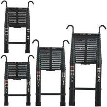 EN131 Certified Aluminium Telescopic Ladders with Hooks