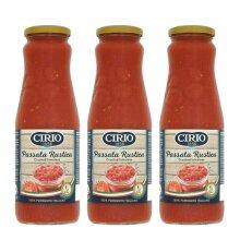 Cirio Passata Rustica Italian Crushed Tomatoes Cooking Sauce 3 x 680g