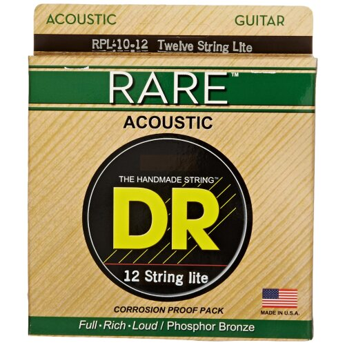DR Strings Rare - Phosphor Bronze 12 String Acoustictic: Lite