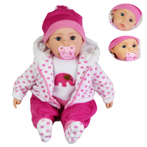 "(Spotty Coat) 20"" Lifelike Baby Doll 