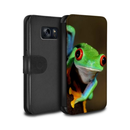 (Frog) Wildlife Animals Samsung Galaxy S7/G930 Phone Case Wallet Flip Faux PU Leather Cover for Samsung Galaxy S7/G930
