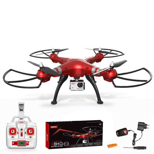 X8HG RC Drone 4CH FPV Gyro Quadcopter 8MP HD Camera UFO Helicopter Red UAV