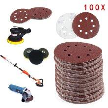 "100X 125mm 5"" Sanding Discs 40 60 80 120 240 Grit Orbital Sander Pads"