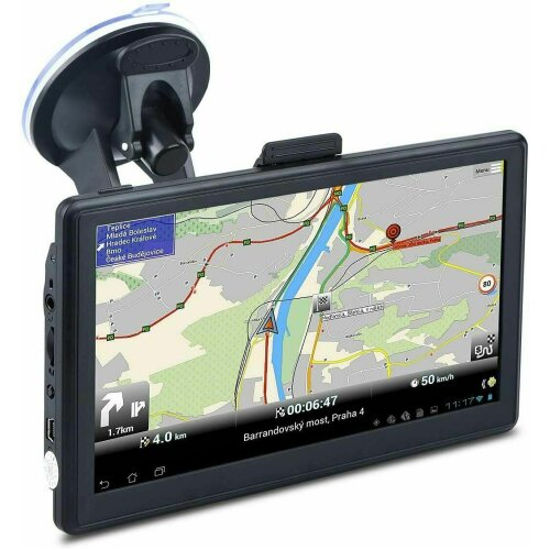 "7"" Sat Nav Car Truck HGV GPS Navigation Free POI UK Maps Speedcam Updates"