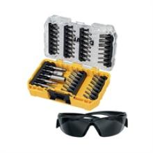 Dewalt 47pc Screwdriver Bit Set With Safety Glasses In Tough Case