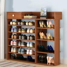 7 Tier Shoe Storage Cabinet Wooden Boot Stand Racks Organizer Stand