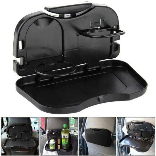 Folding Table Car Van Back Seat Storage Tidy Organiser Drink Food Holder Tray