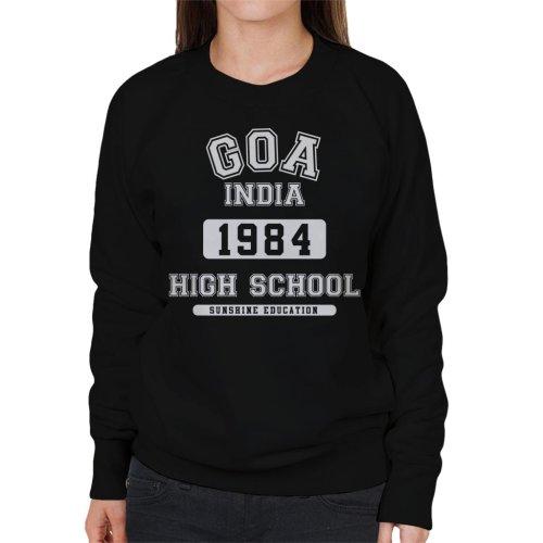 (Small, Black) Goa India High School Women's Sweatshirt