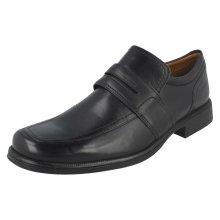 Mens Clarks Formal Slip On Shoes Huckley Work - G Fit