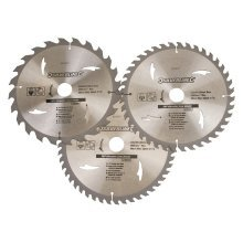 Silverline Tct Circular Saw Blades 24, 40, 48t 3pk 230 x 30 - 25, 20, 16mm -  circular saw tct blades x 20 silverline 230 16mm 3pk 25 24 40 rings 48t
