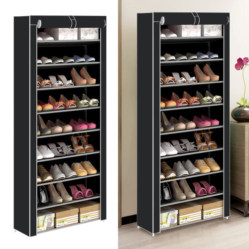 10 TIER SHOES CABINET STORAGE ORGANISER SHOE RACK STAND HOLDS 27 PAIRS