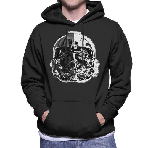 Original Stormtrooper Imperial TIE Pilot Helmet Monochrome Effect Men's Hooded Sweatshirt