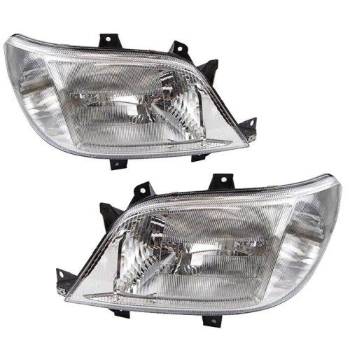 Mercedes  Sprinter Mk2 2000-2003 Headlights Headlamps 1 Pair O/s & N/s