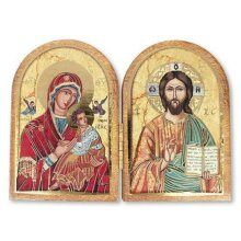 Jesus and Our Lady of Perpetual Help Folding Plaque Religious Gift