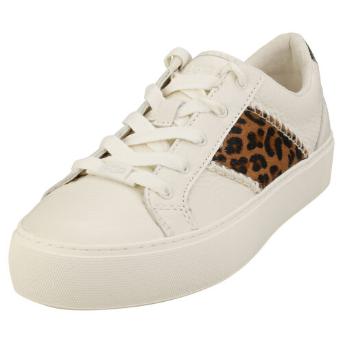 UGG Dinale Exotic Womens Fashion Trainers in Coconut Milk Leopard