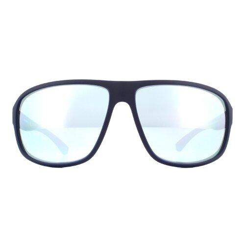 Emporio Armani Sunglasses EA4130 57546J Matte Blue Blue Mirror White