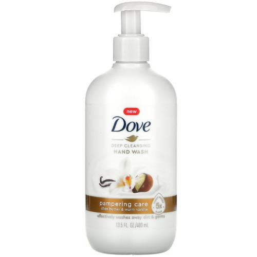 Dove, Deep Cleansing Hand Wash, Shea Butter & Warm Vanilla, 400ml