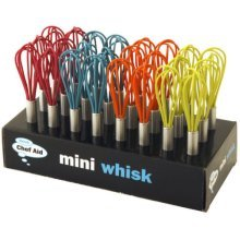 Small Coloured Chef Aid Mini Silicone & Stainless Steel Whisk -