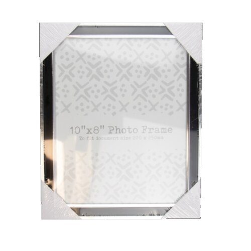 Contemporary Modern Style Black & Silver Picture Frame 8 x 10