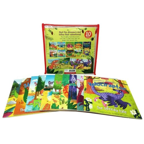 Dinosaur Adventures 10 Picture Books Collection Set With Bag - Cove