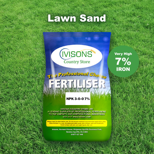 Ivisons Lawn Sand 3-0-0+7% Fe