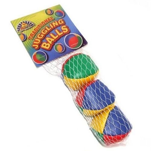 3 Small Traditional Juggling Balls - Fun Summer Toy
