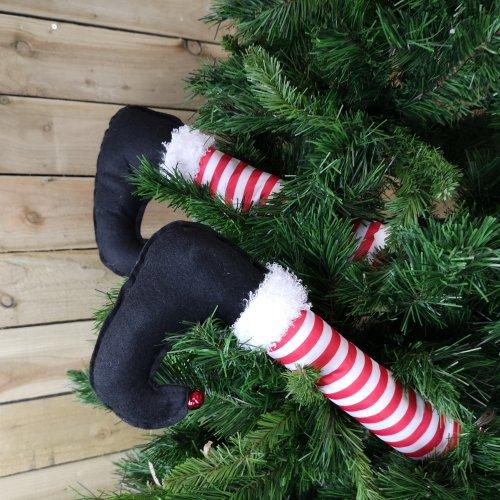 56cm Pack of 2 Elf Design Chunky Christmas Tree Leg Pick