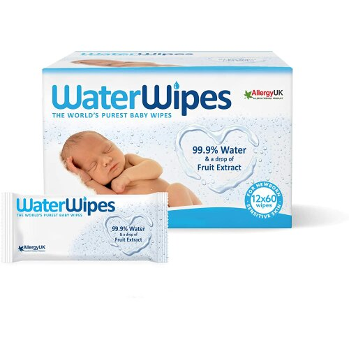 Baby Wipes 99.9 Water Unscented Sensitive Newborn Skin 720 New