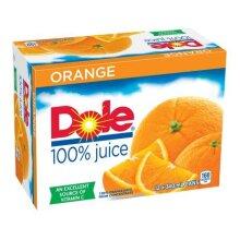 DOLE 100 percent ORANGE JUICE - 2 Unit(s)----Each  Unit Is 12 X(340ML)