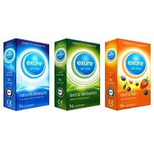 Condoms Ribbed Natural & Flavoured by EXURE