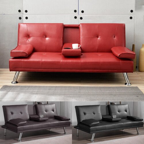 Sofa Bed Sofas Bed 3 Seater Magazine Leather