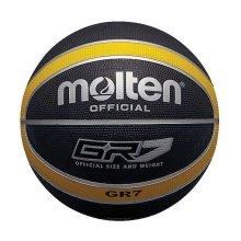 Molten GR7 Indoor Outdoor Rubber Basketball Ball Black/Yellow
